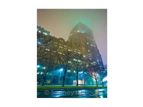 Fisher Building Fog Luster or Canvas Print $35 - $430 - Pure Detroit