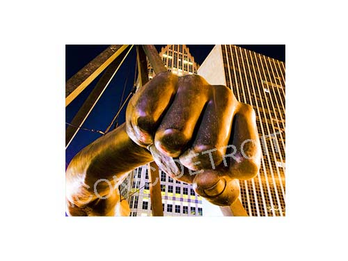 Joe Louis Fist Tilt Luster or Canvas Print $35 - $430 - Pure Detroit