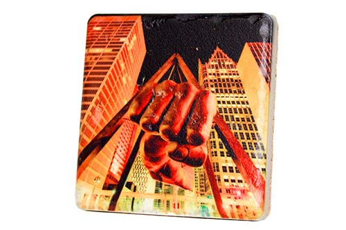 Joe Louis Fist Porcelain Tile Coaster - Pure Detroit