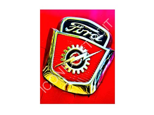 Ford Bolt Emblem Luster or Canvas Print $35 - $430 - Pure Detroit