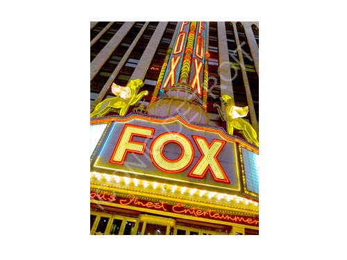 Fox Theatre Lights Luster or Canvas Print $35 - $430 - Pure Detroit