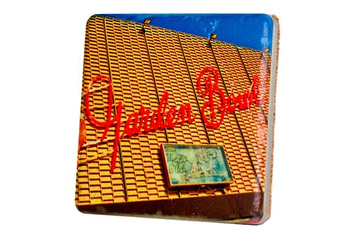 Garden Bowl Porcelain Tile Coaster - Pure Detroit