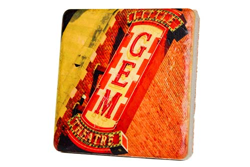 Little Gem Theatre Porcelain Tile Coaster - Pure Detroit
