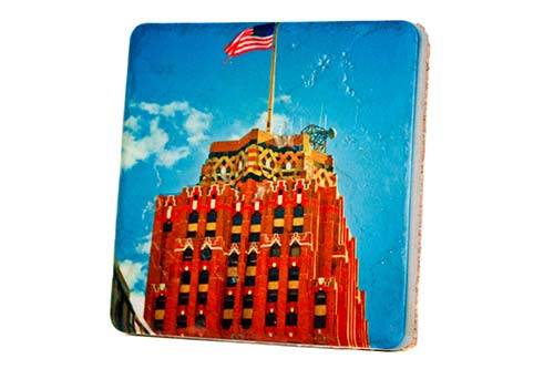 Guardian Building Porcelain Tile Coaster