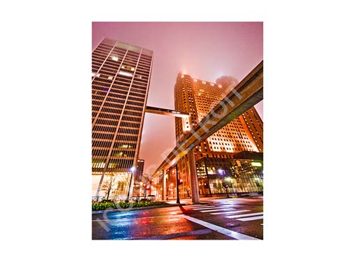 People Mover at Night Luster or Canvas Print $35 - $430 - Pure Detroit