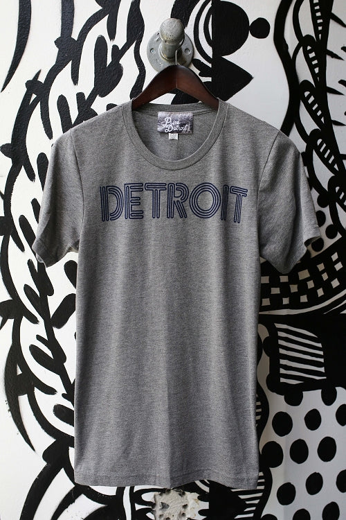 Detroit Neon Tee / Navy + Heather Gray / Unisex - Pure Detroit