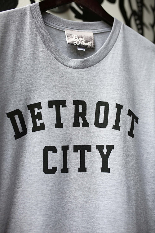 Detroit City Classic Tee / Black + Ash Grey / Unisex