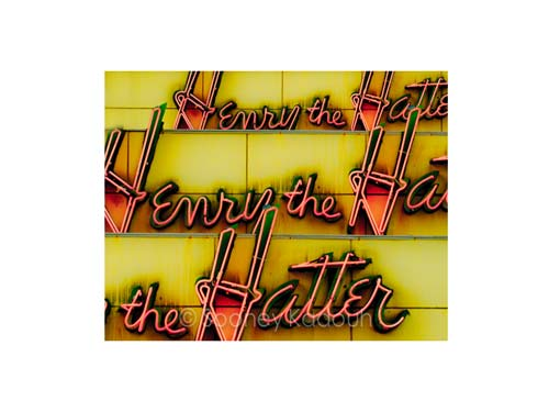 Henry the Hatter Neon Luster or Canvas Print $35 - $430 - Pure Detroit