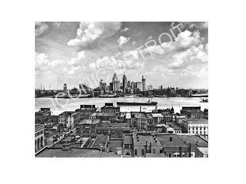 Historic Detroit Rooftops Luster or Canvas Print $35 - $430