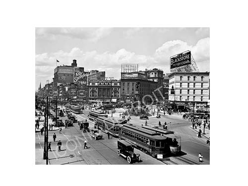 Historic Campus Martius Black and White Luster or Canvas Print $35 - $430
