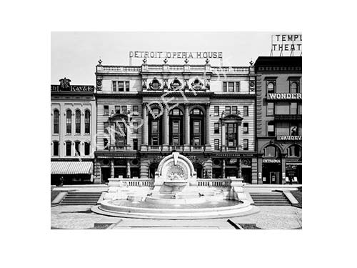 Historic Detroit Opera House Black and White Luster or Canvas Print $35 - $430 - Pure Detroit
