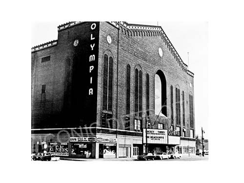 Historic Olympia Stadium Black and White Luster or Canvas Print $35 - $430 - Pure Detroit