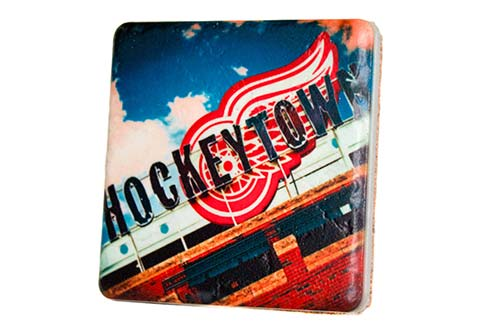 Hockeytown Porcelain Tile Coaster - Pure Detroit