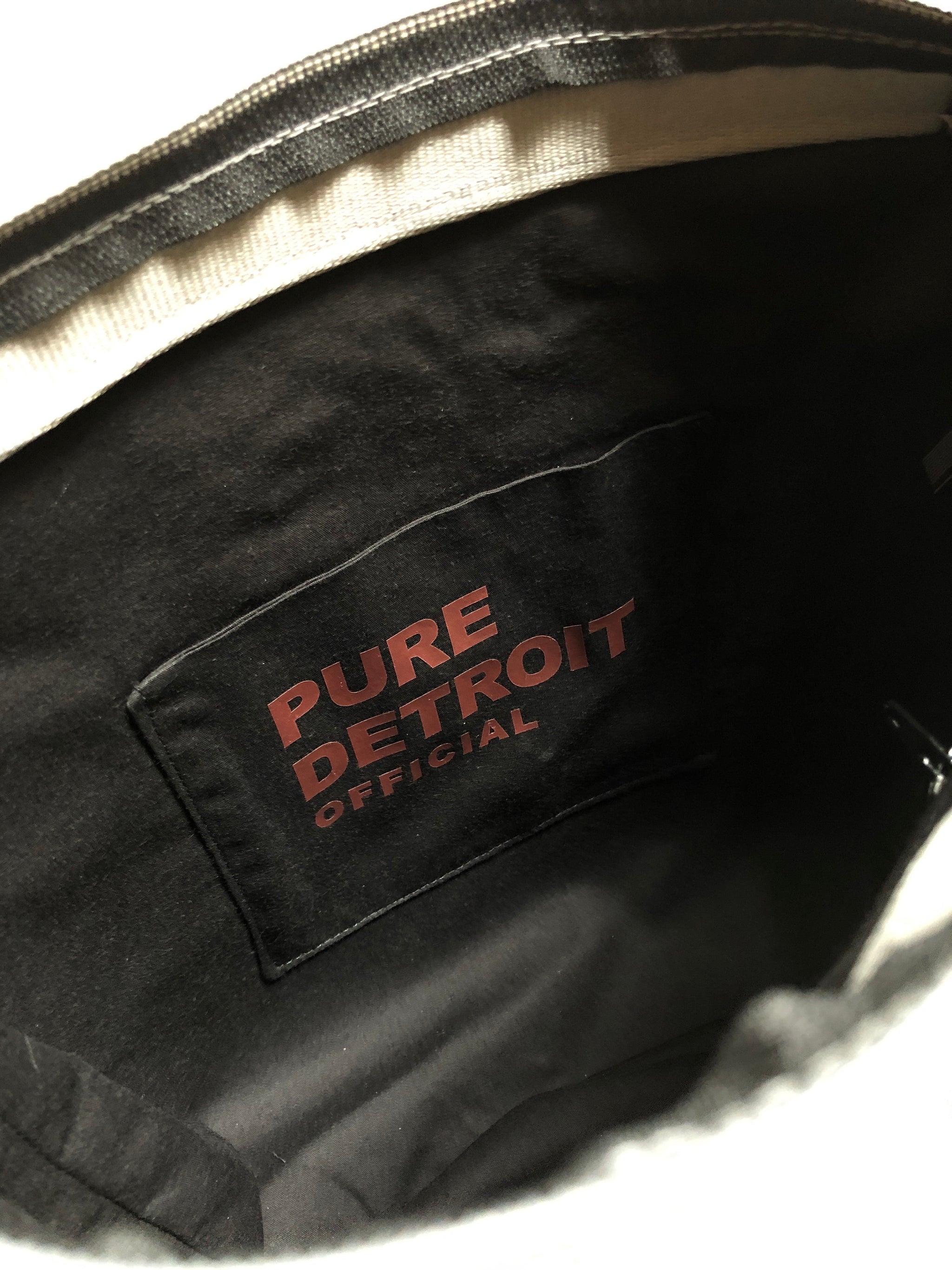 Pure Detroit OFFICIAL - Large City Slinger Tote Seatbelt Bag - Steel PRE ORDER - Pure Detroit