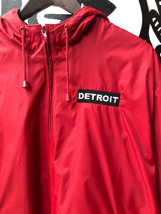 Detroit Premium Fleece Hood Jacket / Red / Unisex - Pure Detroit