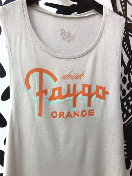 Drink Faygo Orange Flowy Scoop Muscle Tee / Heather Dust / Women's - Pure Detroit
