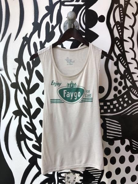 Enjoy Faygo Flowy Scoop Muscle Tee / Heather Dust / Women's - Pure Detroit