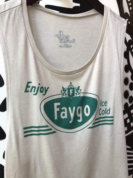 Enjoy Faygo Flowy Scoop Muscle Tee / Heather Dust / Women's