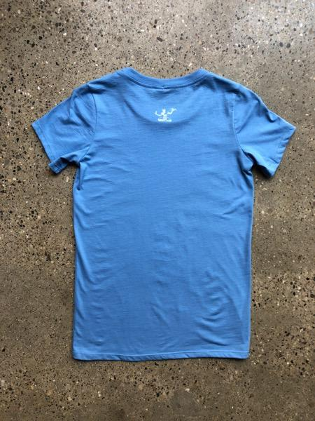 Detroit Classic Tee / White + Big Blue / Women's - Pure Detroit