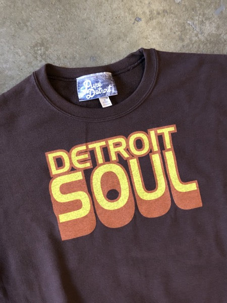 Detroit Soul Sweatshirt / Yellow + Chocolate / Unisex - Pure Detroit