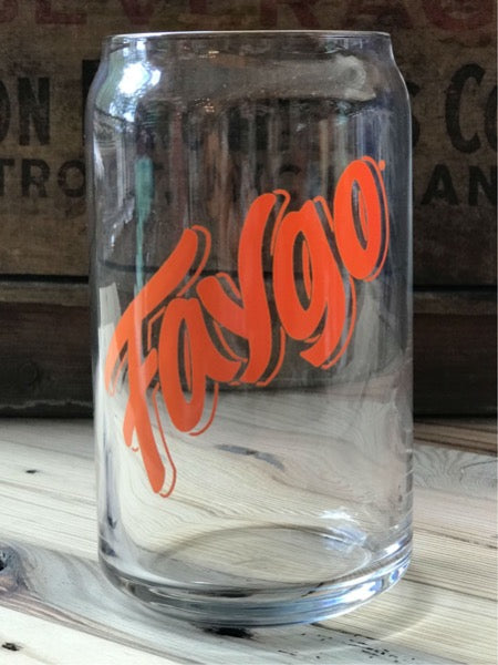 Faygo Orange 16 oz Can Glass - Pure Detroit
