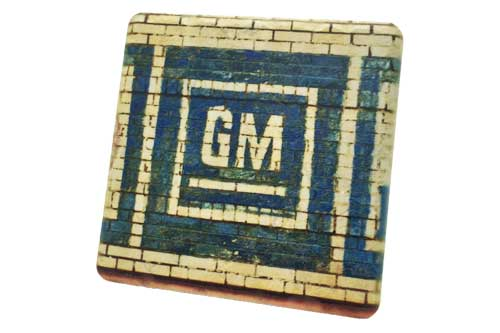 GM Brick Mural Porcelain Tile Coaster - Pure Detroit