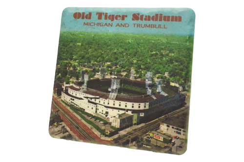 Vintage Tiger Stadium Porcelain Tile Coaster - Pure Detroit