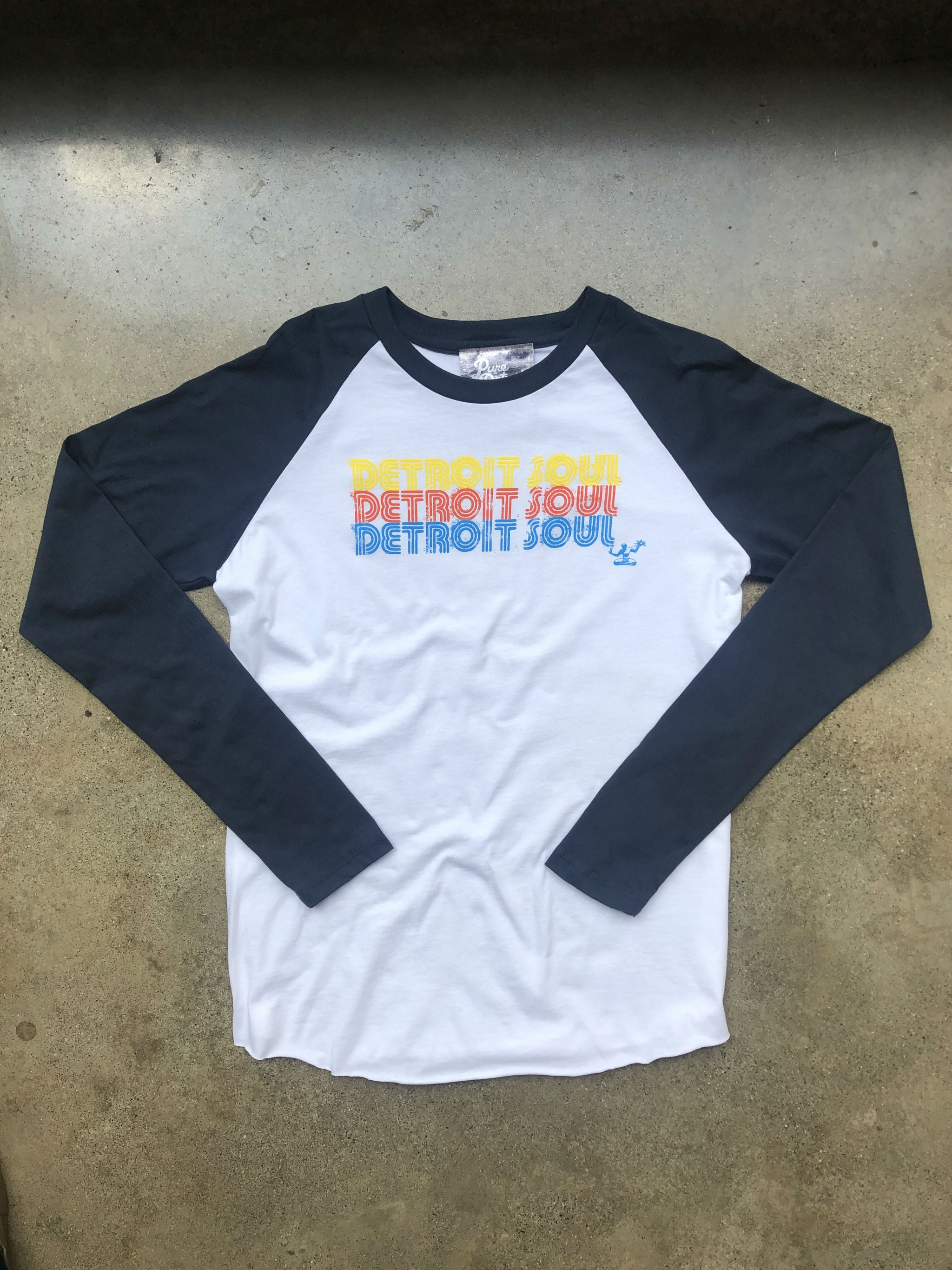 Detroit Soul Triple Stack Jersey / Multicolor + Navy + White / Unisex - Pure Detroit