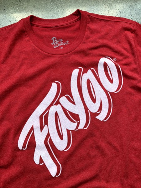 Faygo Script Tee / Red / Unisex - Pure Detroit