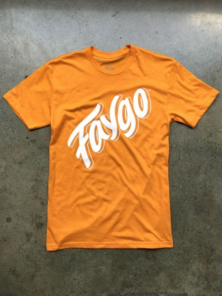 Faygo Script Tee / Orange / Unisex - Pure Detroit