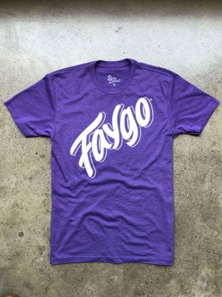 Faygo Script Tee / Grape / Unisex - Pure Detroit