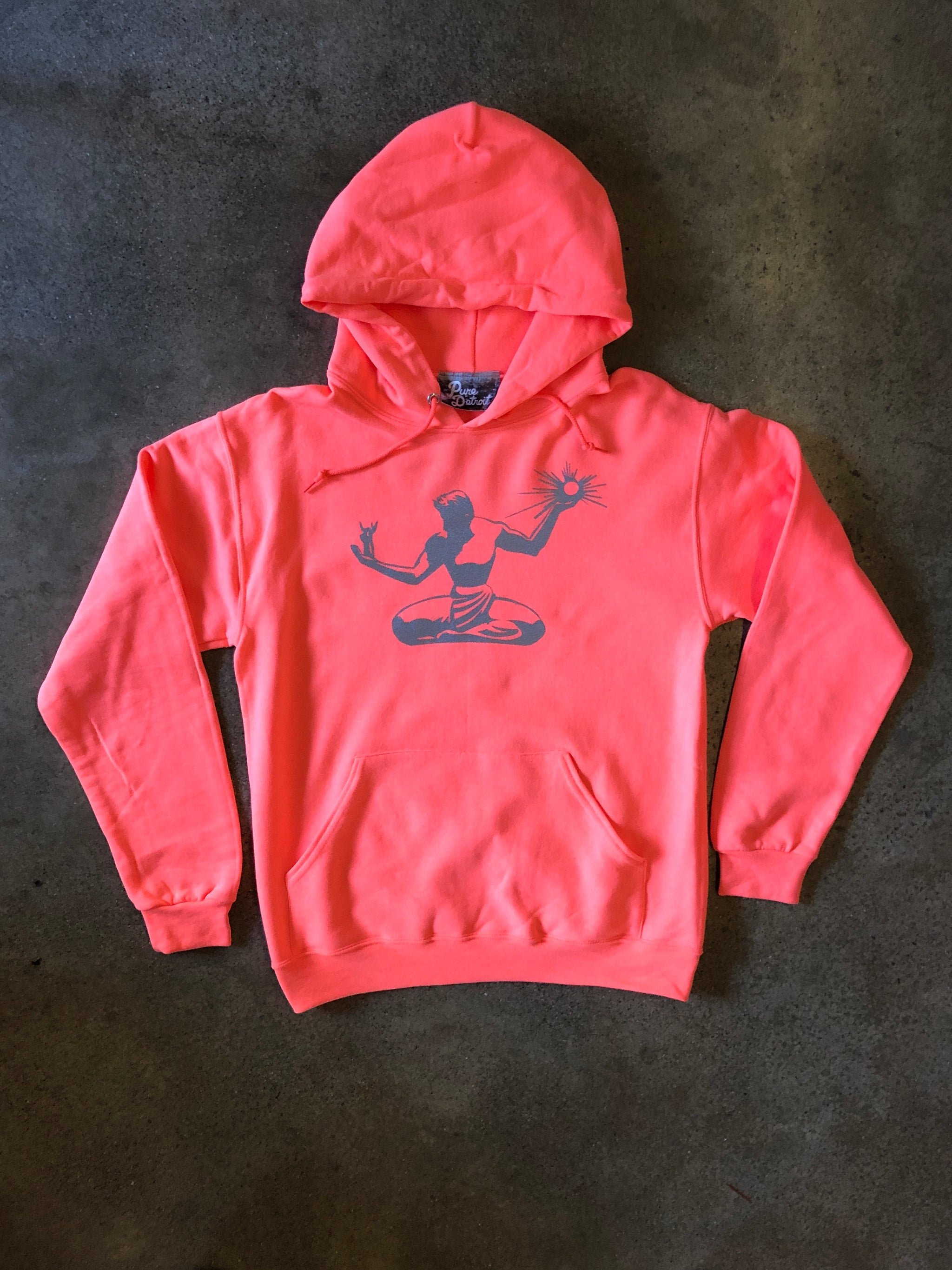 Spirit of Detroit Pullover / Silver + Retro Heather Coral / Unisex - Pure Detroit