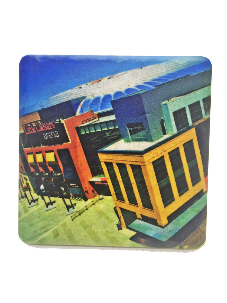 Little Ceasar's Arena Porcelain Tile Coaster - Pure Detroit