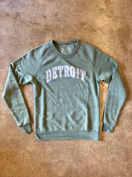 Detroit 1701 Sweatshirt / Fade + Dusty Pine / Unisex - Pure Detroit