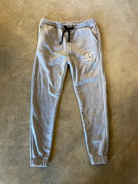 Spirit of Detroit Sponge Fleece Pocket Sweatpants / White + Gray / Unisex - Pure Detroit