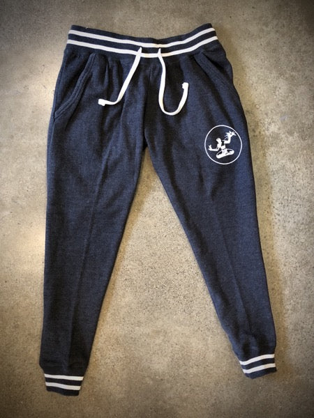 Spirit of Detroit Relay Jogger Sweatpants / White + Black Heather / Women's - Pure Detroit
