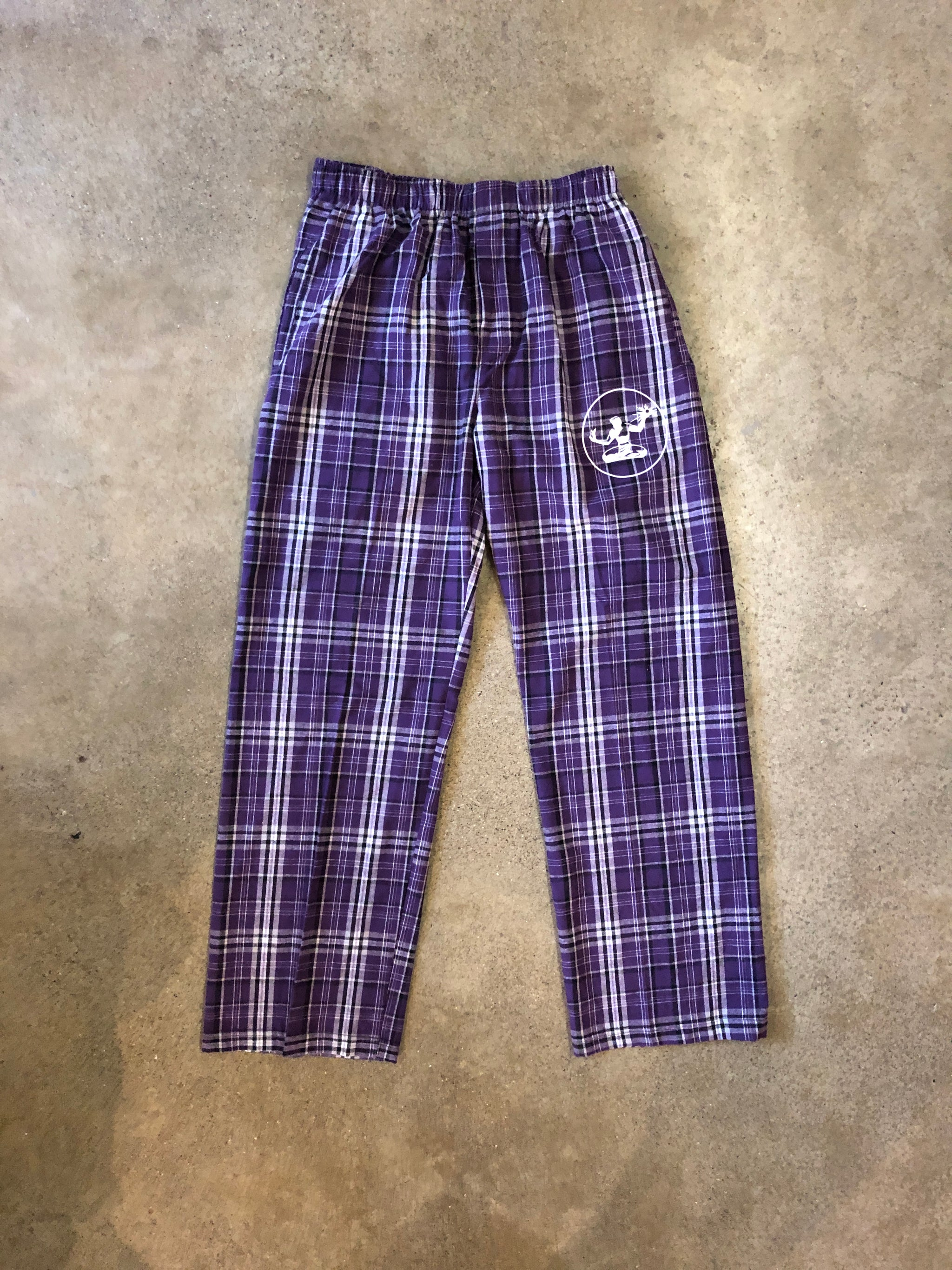 Spirit of Detroit Flannel Pants / Purple + Gray / Unisex - Pure Detroit