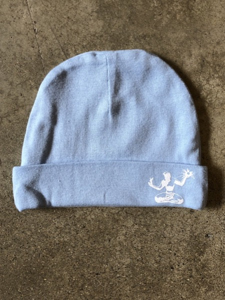 Spirit of Detroit Newborn Cap / Baby Blue - Pure Detroit