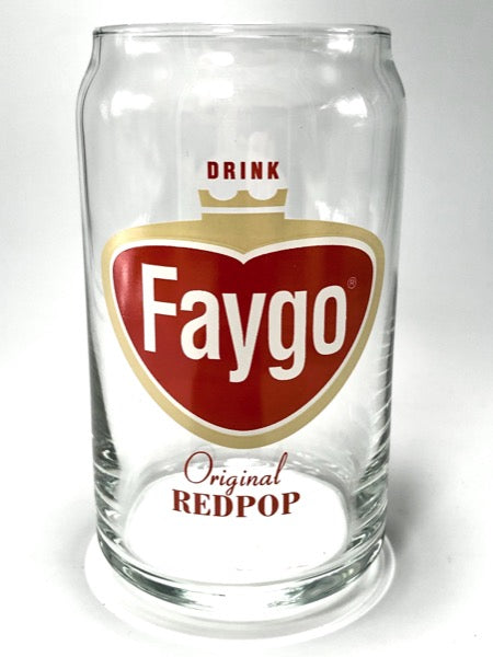 Faygo Red Pop Logo 16 oz Can Glass - Pure Detroit