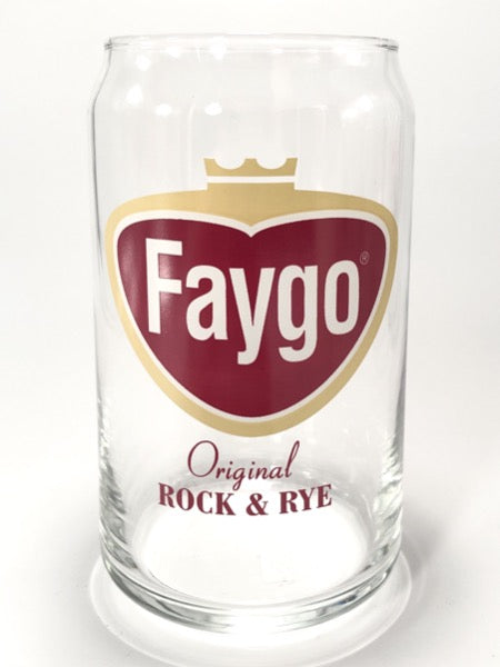 Faygo Rock & Rye Logo 16 oz Can Glass - Pure Detroit