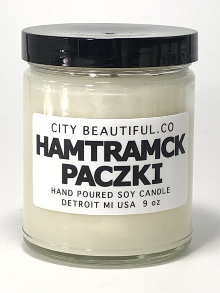 Hamtramck Paczki - Hand Poured Soy Candle by City Beautiful . Co - 9oz. - Pure Detroit