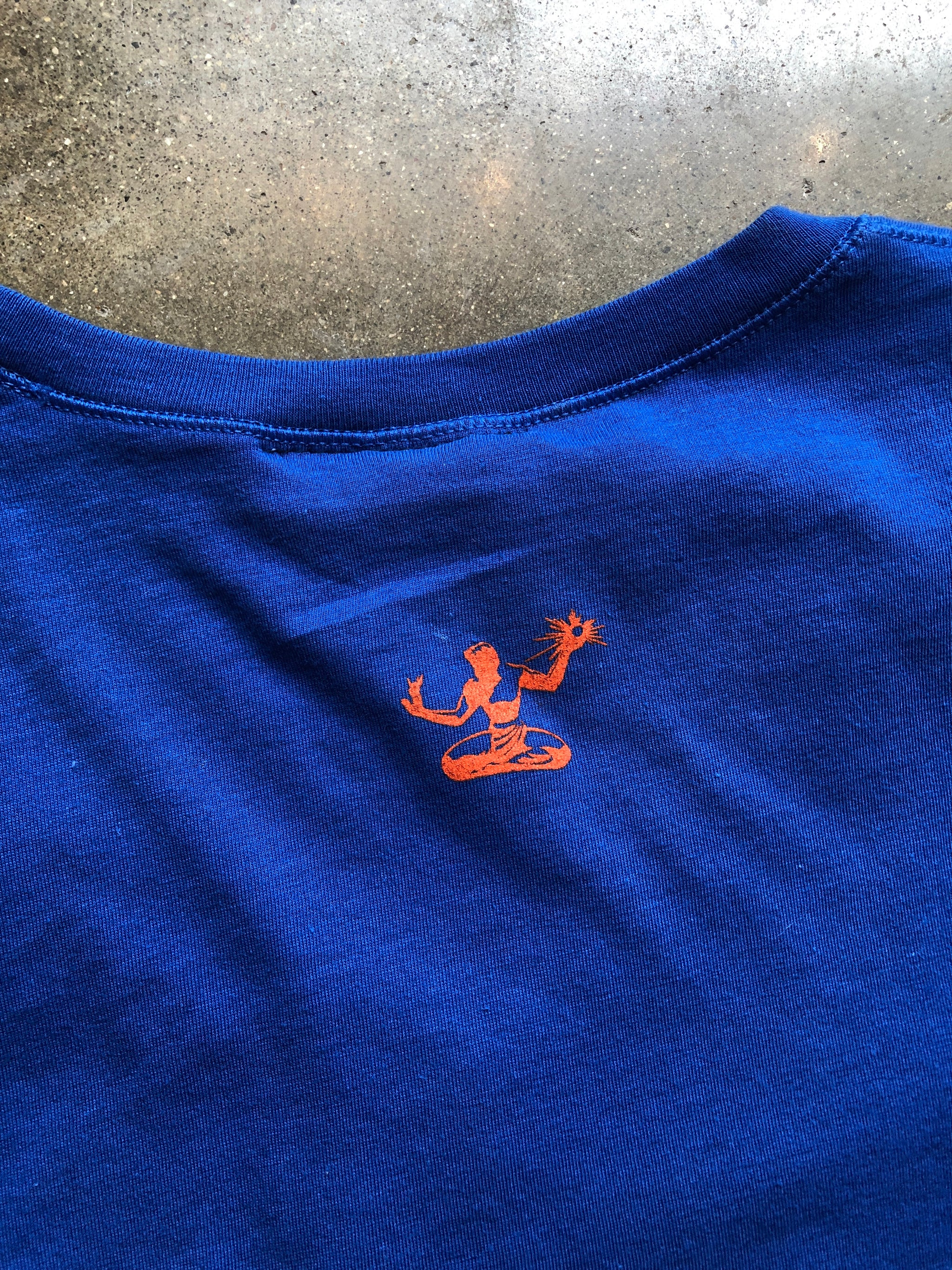 Motor City Stars Tee / Orange + Blue / Unisex - Pure Detroit