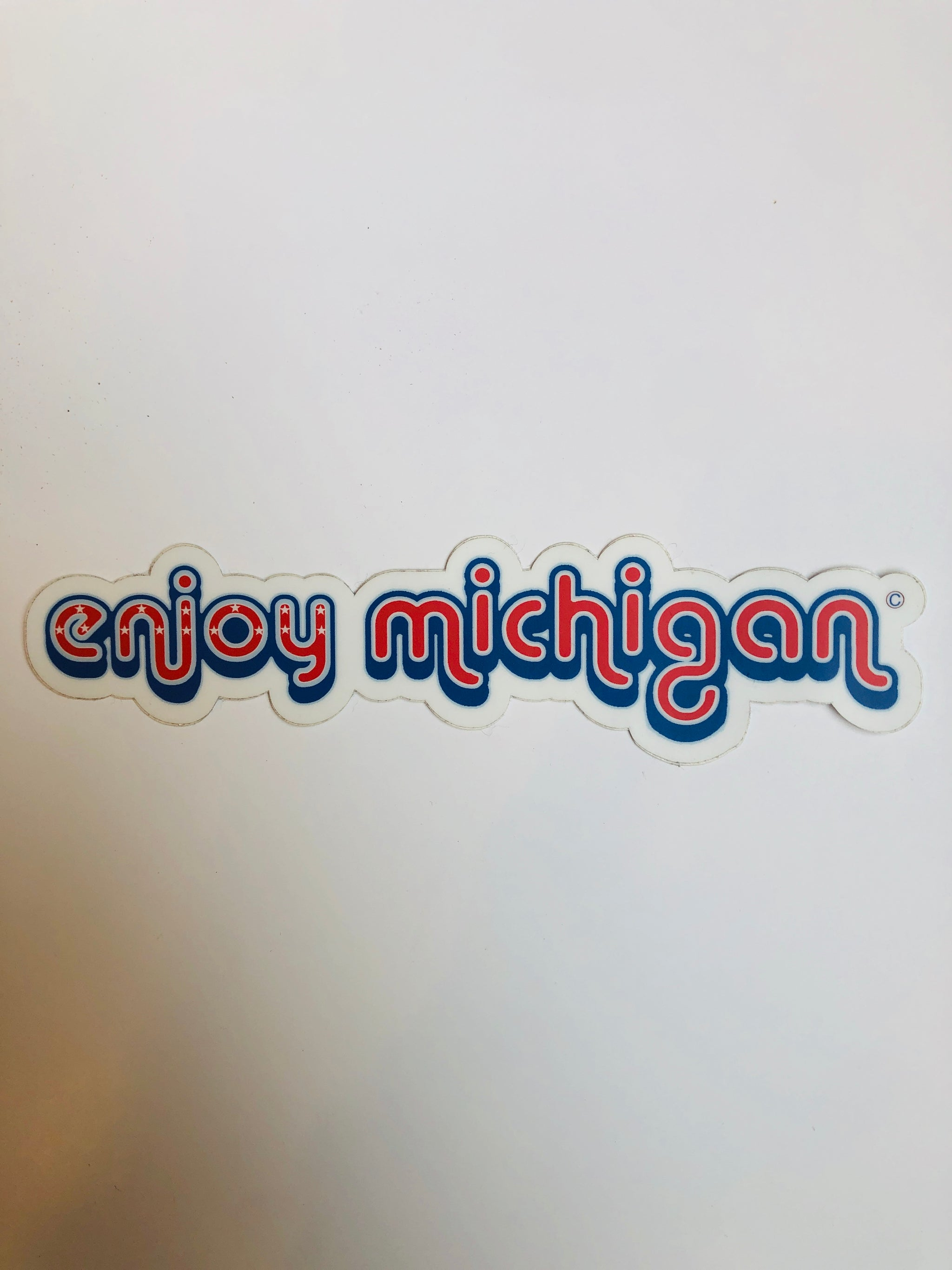Enjoy Michigan Red Decal