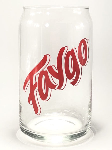 Faygo Red 16 oz Can Glass - Pure Detroit