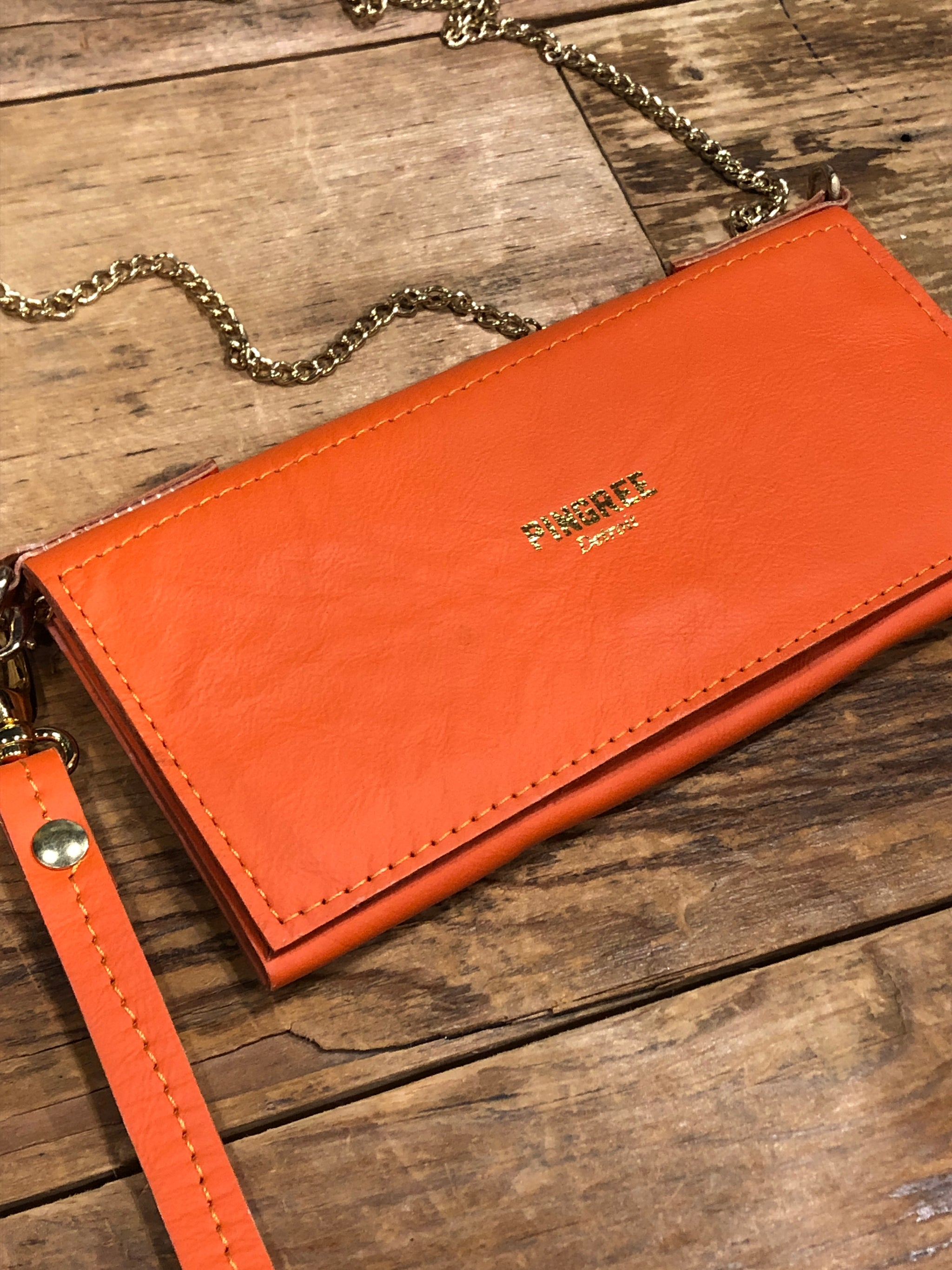 Pingree Adeline Clutch / Orange - Pure Detroit