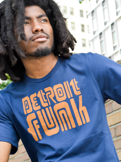 Detroit Funk Tee / Orange + Navy / Unisex