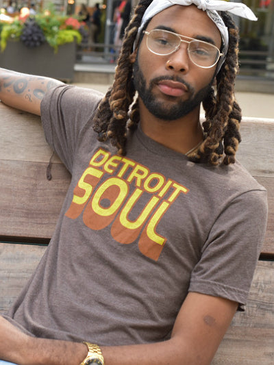Detroit Soul Tee / Yellow + Brown Tri-blend / Unisex - Pure Detroit