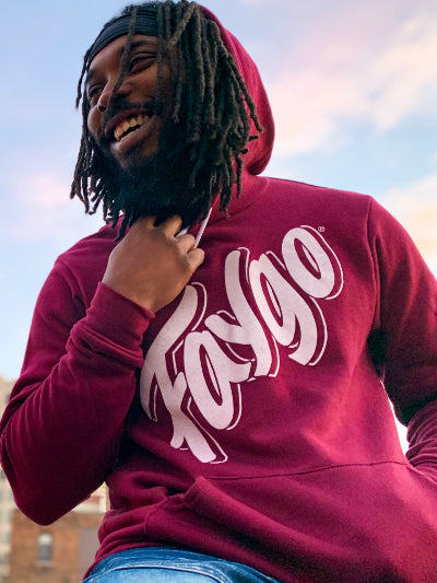 Faygo Script Pullover Hooded Sweatshirt / Red / Unisex