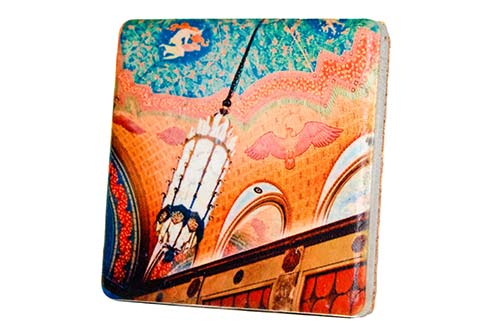 Fisher Building Ceiling Tile Coaster