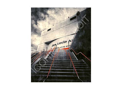Joe Louis Arena Steps Luster or Canvas Print $35 - $430 - Pure Detroit